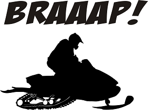 Snowmobile Vinyl Decal Sticker BRAAP HQ 5x7 ANY COLOR!