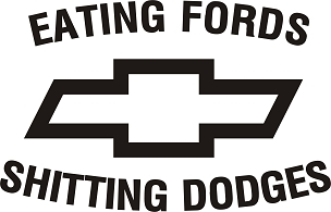 Funny Chevy Decal Sticker FORDS DODGES HQ 5x7 ANY COLOR!