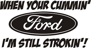 Funny Ford Vinyl Decal Sticker POWERSTROKE CUMMINS HQ 5x7 ANY COLOR!