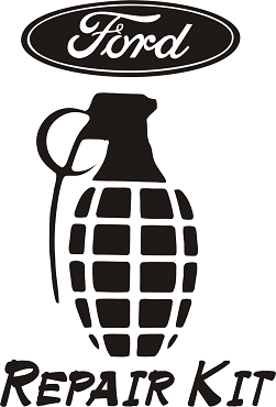 Funny Grenade Vinyl Decal Sticker FORD HQ 5x7 ANY COLOR!