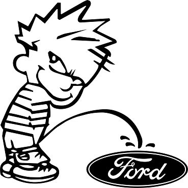 Funny Calvin Vinyl Decal Sticker FORD PISS HQ 5x7 ANY COLOR!