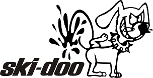 Funny Dog Vinyl Decal Sticker SKIDOO HQ 5x7 ANY COLOR!