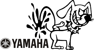 Funny Dog Vinyl Decal Sticker YAMAHA HQ 5x7 ANY COLOR!