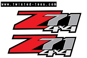 Z71 4x4 Bed Decal Set (2007-2013) - CHEVROLET/GMC (3M)